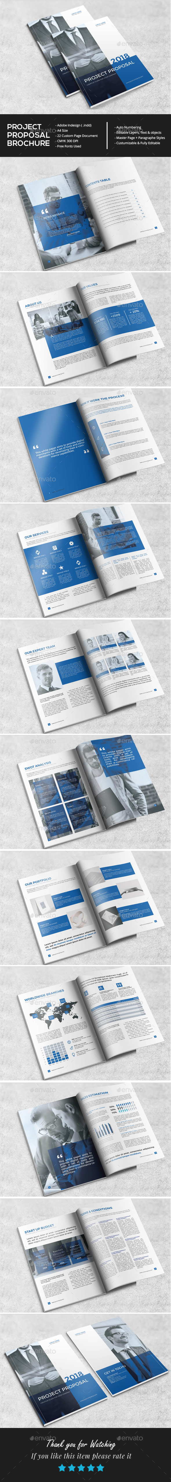 Professional Project Proposal - Brochures Print Templates
