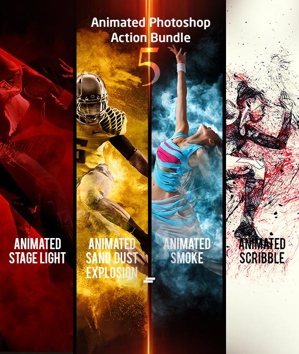 Animated Photoshop Action Bundle 05 - Photo Effects Actions