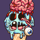 Zombie Ice Cream Cone - GraphicRiver Item for Sale