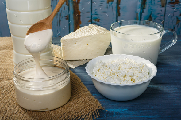 Farm dairy products - Stock Photo - Images