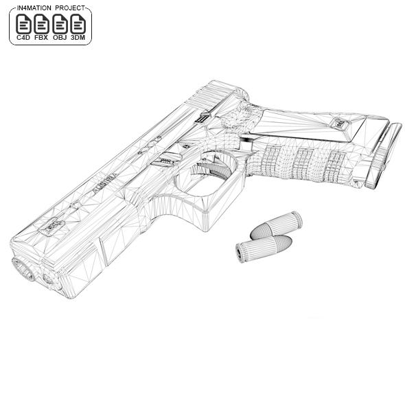 Glock 17 Gen 4 [ 3D MODEL ] Real