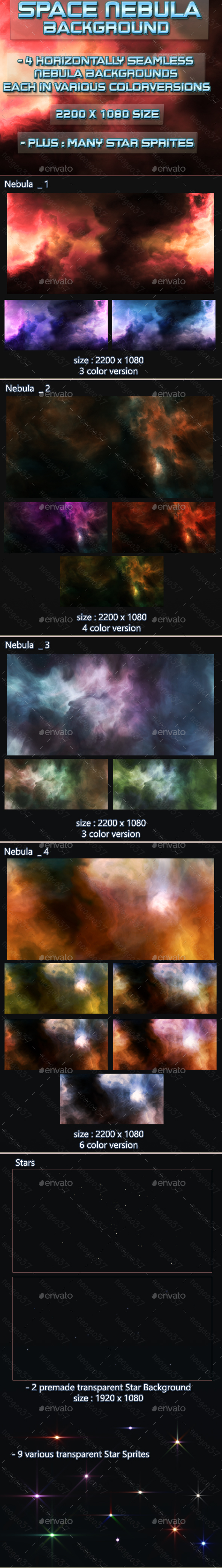 Nebula Space Background - Backgrounds Game Assets