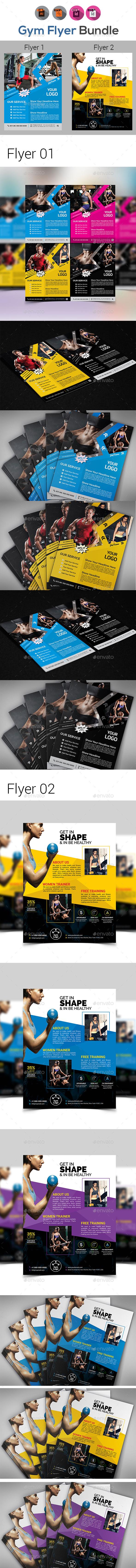 Sports | Fitness | Gym Flyer Bundle - Sports Events
