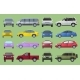 Car City Different Model Objects Icons Set