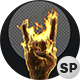 3D Zombie Rock Hand On Fire - VideoHive Item for Sale