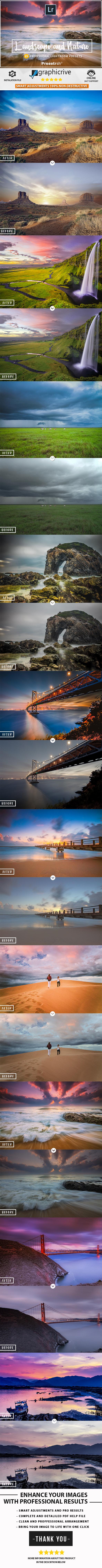 25 Pro Landscape and Nature Lightroom presets - Landscape Lightroom Presets