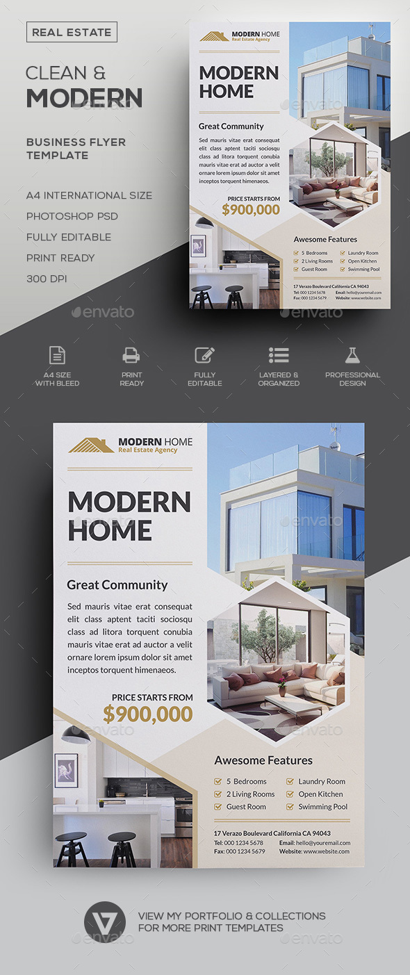 Real Estate Flyer by verazo | GraphicRiver