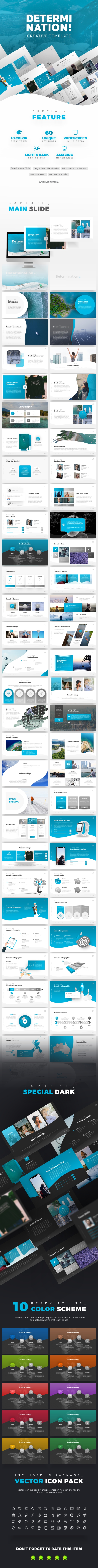 Determination PowerPoint Presentation Template - PowerPoint Templates Presentation Templates