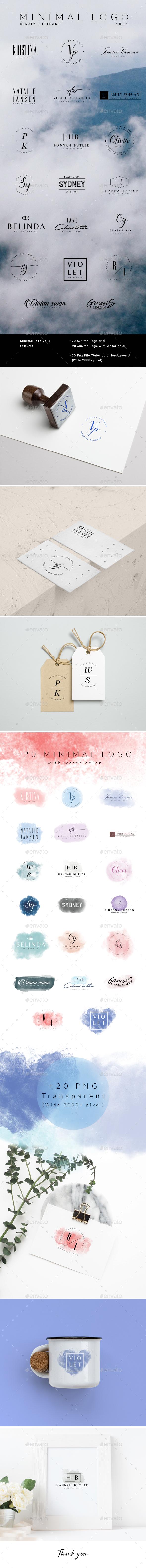 Minimal Logo Vol.4 - Badges & Stickers Web Elements