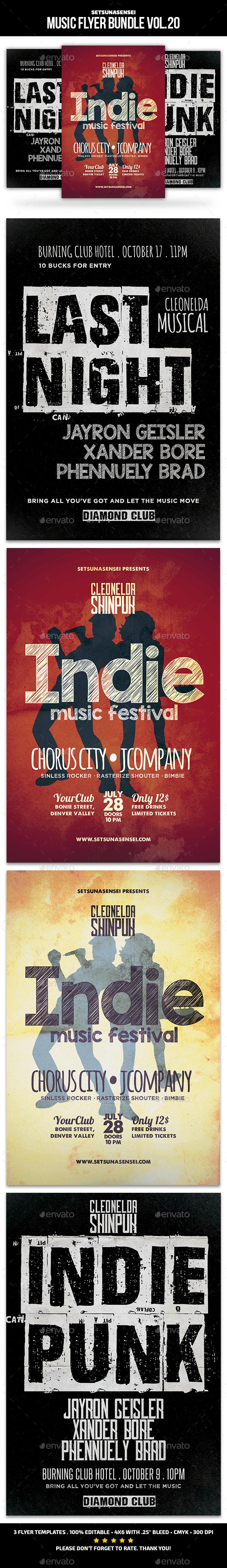 Music Flyer Bundle Vol. 20 - Concerts Events