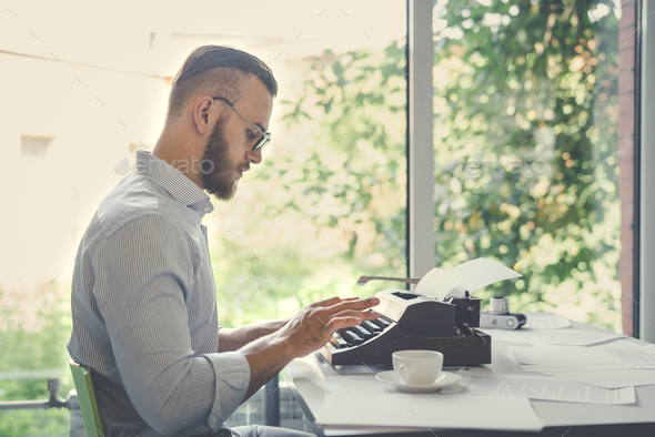 Author at work - Stock Photo - Images