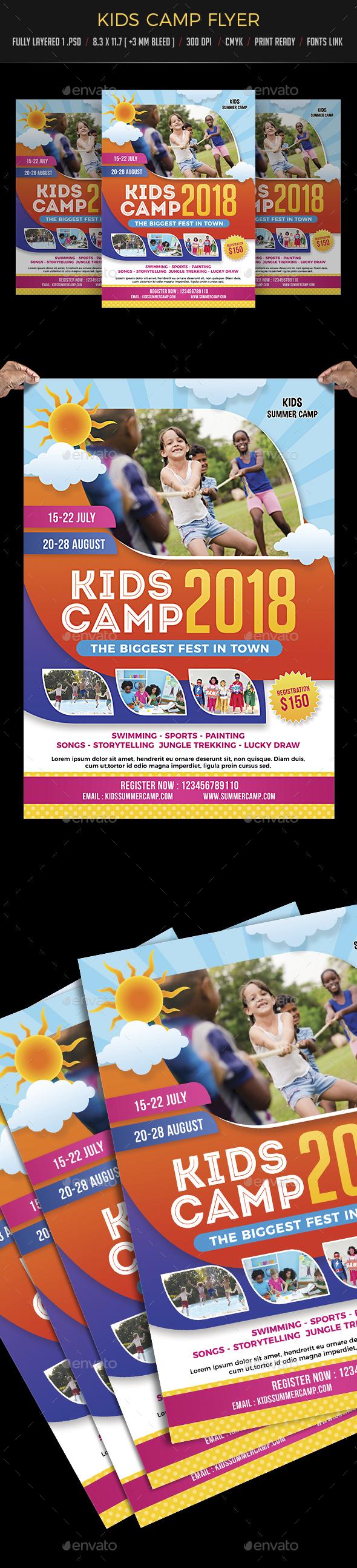 Kids Camp Flyer - Flyers Print Templates