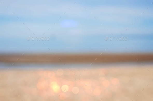 sea with blurry background - Stock Photo - Images