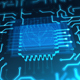 Futuristic Animated Blue Circuit Board - VideoHive Item for Sale