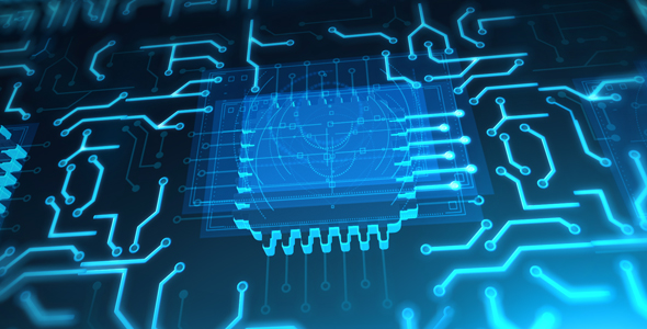 Futuristic Animated Blue Circuit Board by Pixy2012 | VideoHive