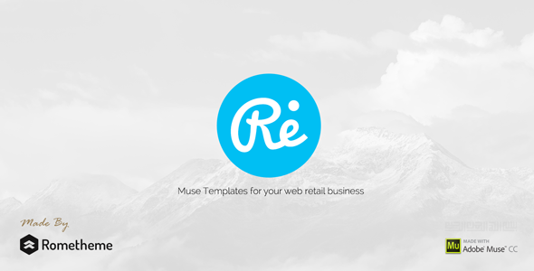 RE - Multi-purpose Responsive Muse Templates - Muse Templates
