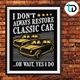 Classic Car T-shirt Badge