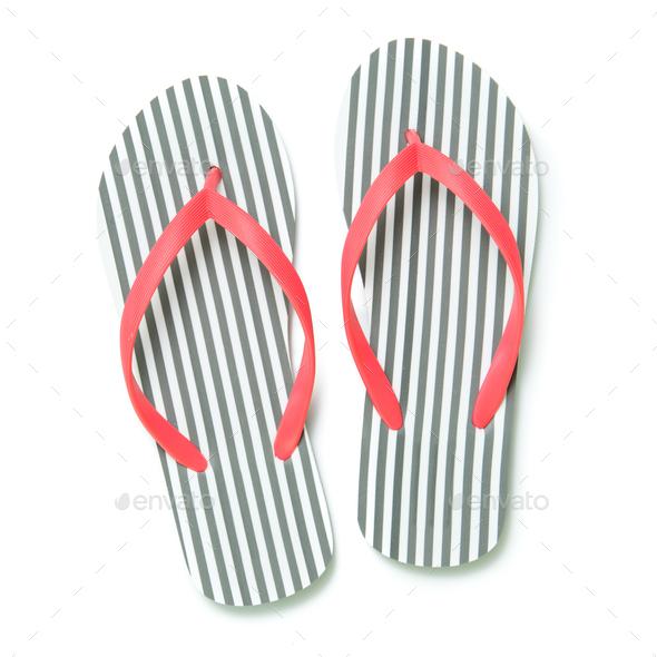 Flip flops isolated on white background - Stock Photo - Images