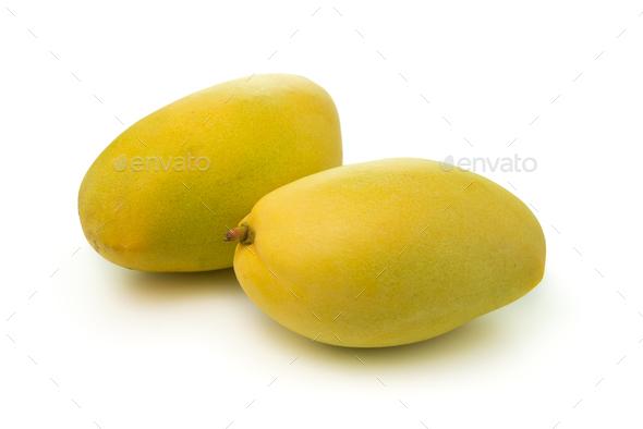 Mangos on white background - Stock Photo - Images