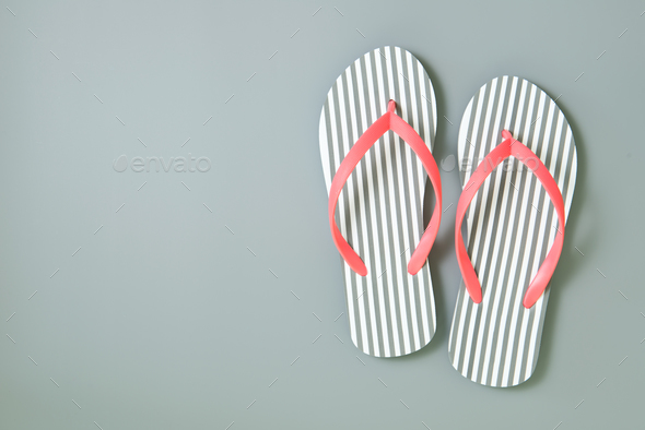 Flip flops isolated on white background - Stock Photo - Images