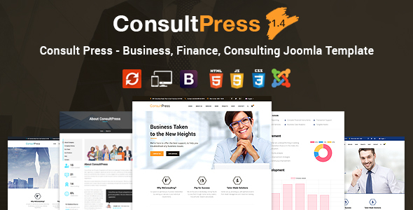Image of Consult Press - Finance & Consulting Business Joomla Template