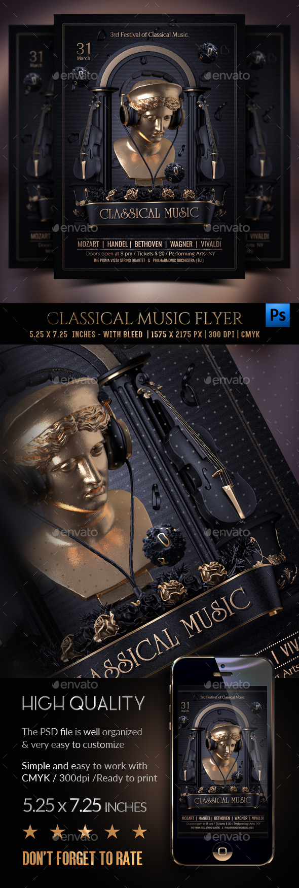 Classical Music Flyer - Clubs & Parties Events