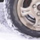 Wheel is Slipping in the Snow - VideoHive Item for Sale