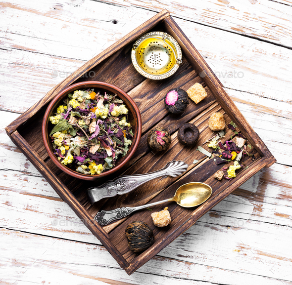 Healthy herbal tea - Stock Photo - Images