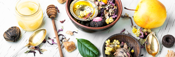 Healthy herbal tea - Stock Photo - Images