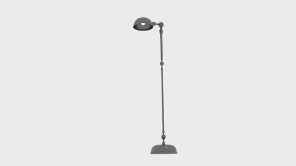 Nickel Angled Floor Lamp - 3DOcean Item for Sale