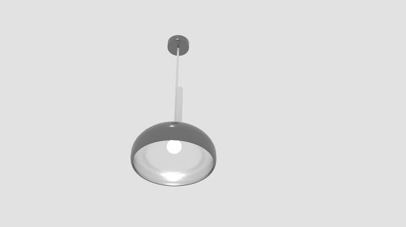 Rock Chromed Metal Ceiling Light - 3DOcean Item for Sale