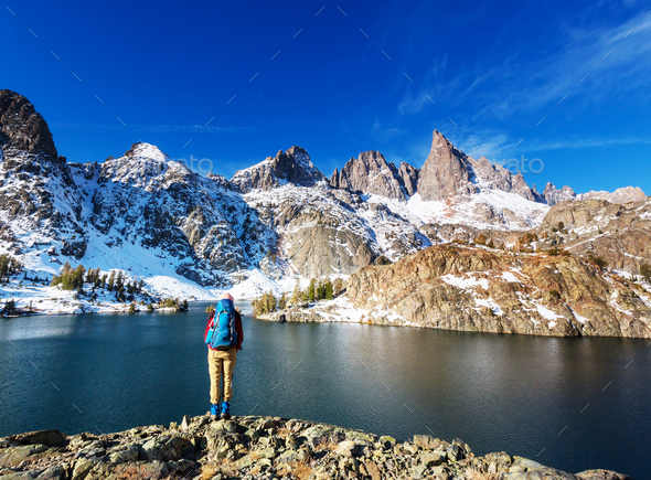 Hike in Sierra Nevada - Stock Photo - Images