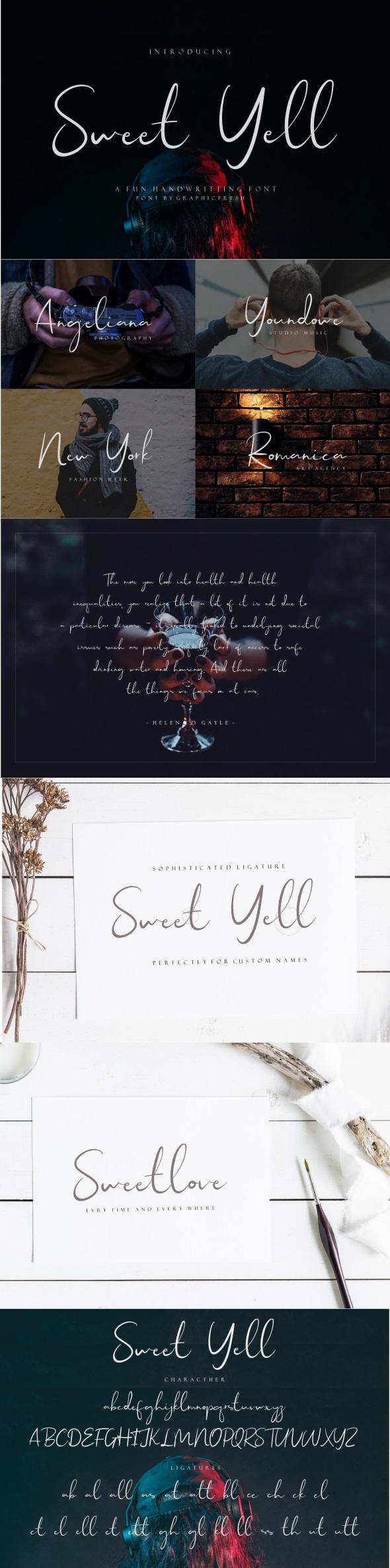 Sweet Yell - A Fun Handwritting - Hand-writing Script