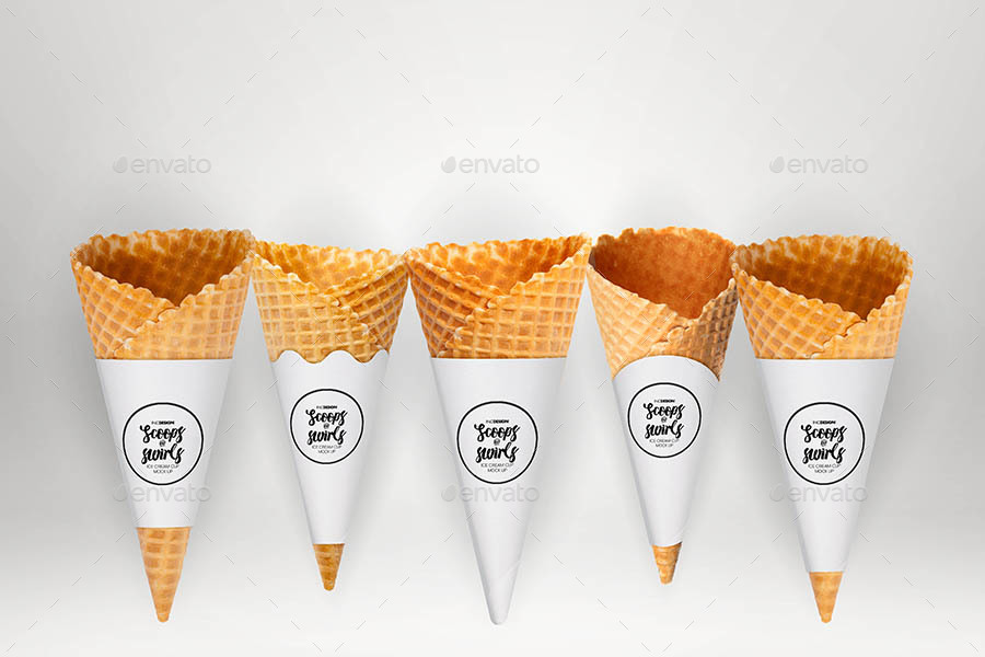 Ice Cream Cone Logo Design