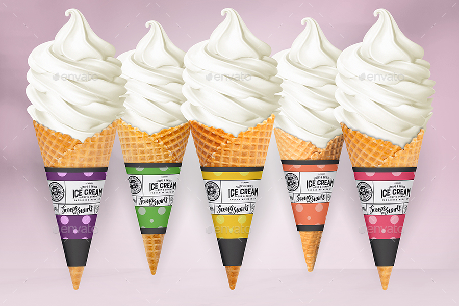 Packaging mock up ice cream yogurt cup cone by ina717 graphicriver packaging mock up ice cream yogurt cup cone maxwellsz