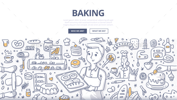 Baking Doodle Concept - Concepts Business