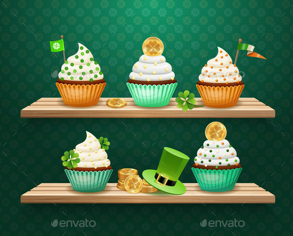 Saint Patricks Day Sweets Composition - Food Objects