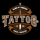 Set of Vintage Tattoo Studio Badges