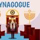 Jewish Synagogue Cartoon Background