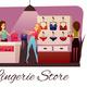 Lingerie Store Flat Composition
