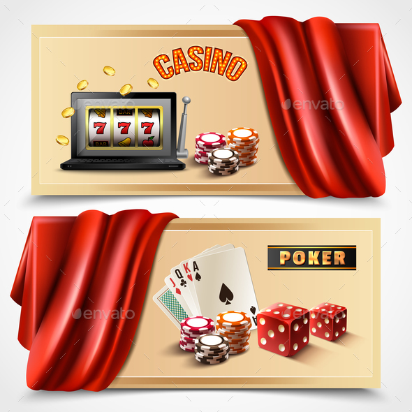 Casino Realistic Banner Set - Sports/Activity Conceptual