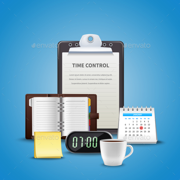 Time Management Realistic Concept - Concepts Business