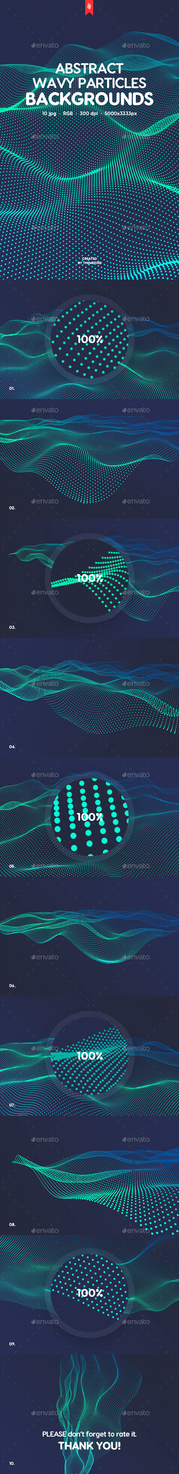 Wavy Particles Backgrounds - Abstract Backgrounds