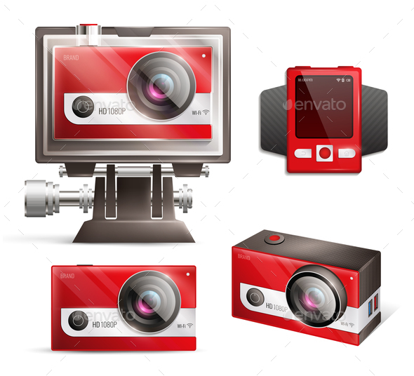 Action Camera Set - Sports/Activity Conceptual