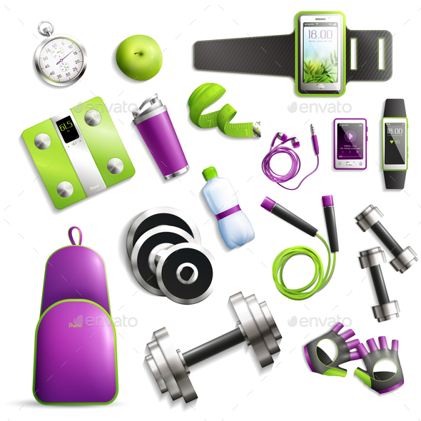 Fitness Gym Set - Food Objects