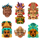 Mayan Mask Cartoon Set