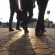 Feet of Three Businessmen Walking  - VideoHive Item for Sale