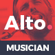 Alto - Musician Landing Page - ThemeForest Item for Sale