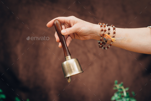 Bali bell in sound therapy - Stock Photo - Images