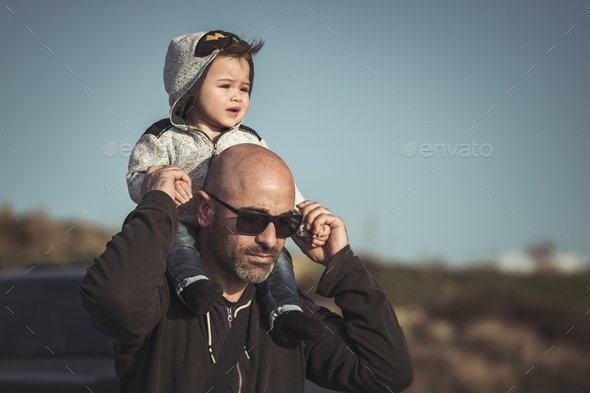 Father playing with his little son - Stock Photo - Images